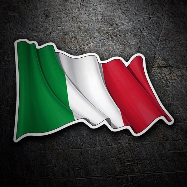 Pegatinas: Bandera de Italia ondeando