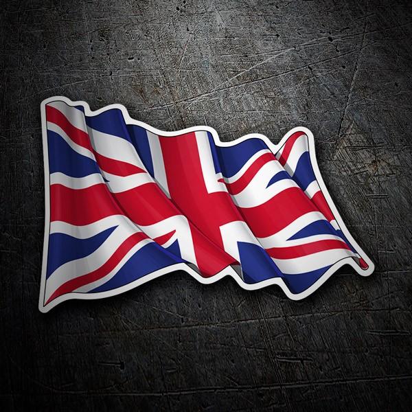 Pegatinas: Bandera del Reino Unido ondeando