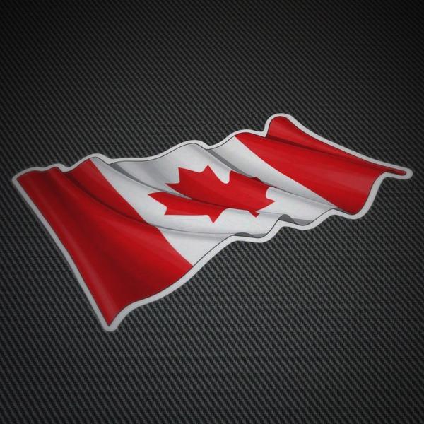 Pegatinas: Bandera de Canadá ondeando