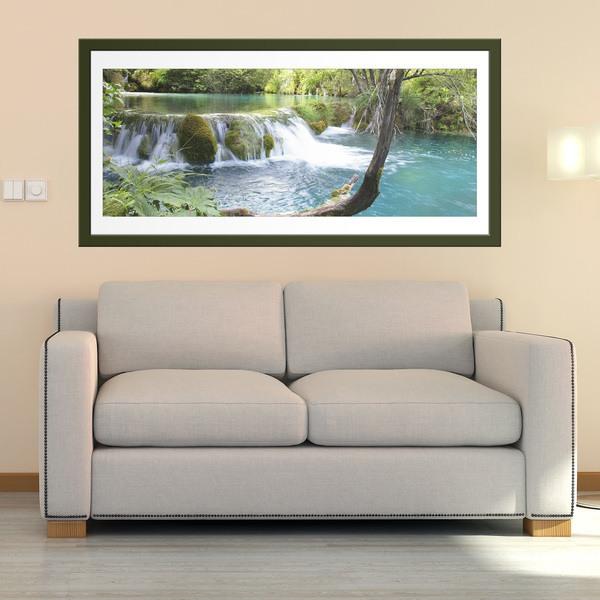 Vinilos Decorativos: Vegetación y río con cascada