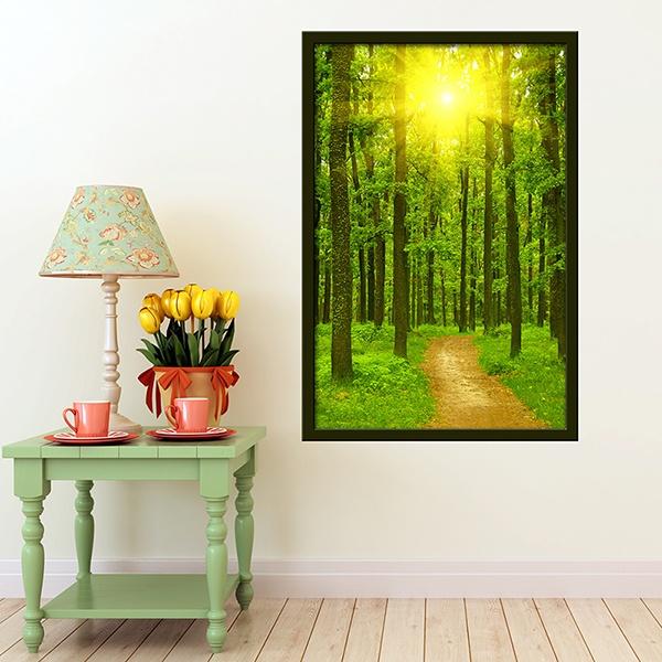 Vinilos Decorativos: Camino en el bosque