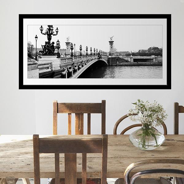 Vinilos Decorativos: Puente sobre el río Sena en París