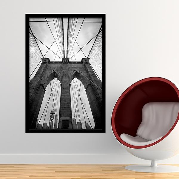 Vinilos Decorativos: Dentro del puente de Brooklyn