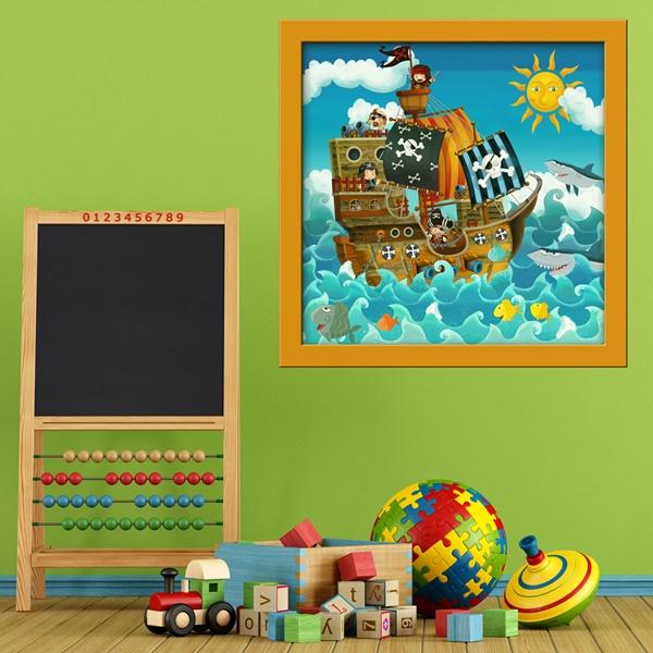 Vinilos Infantiles: Barco Pirata