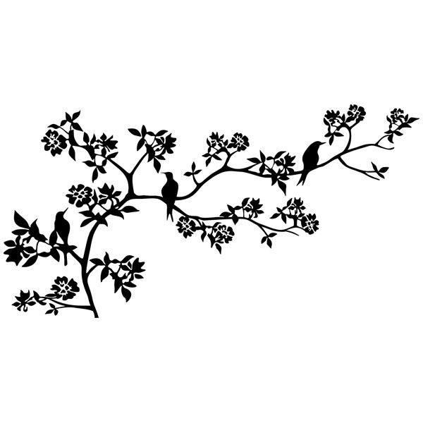 Vinilos Decorativos: Rama de un árbol en primavera