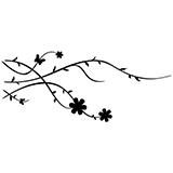 Vinilos Decorativos: Floral Brunia