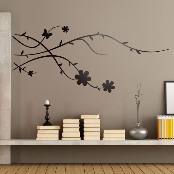 Vinilo decorativo floral rama de rbol brunia for Stickers pared baratos