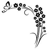 Vinilos Decorativos: Floral esquina y mariposa