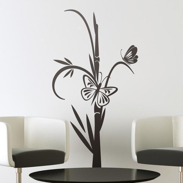 Vinilos Decorativos: Mariposas y Bambú