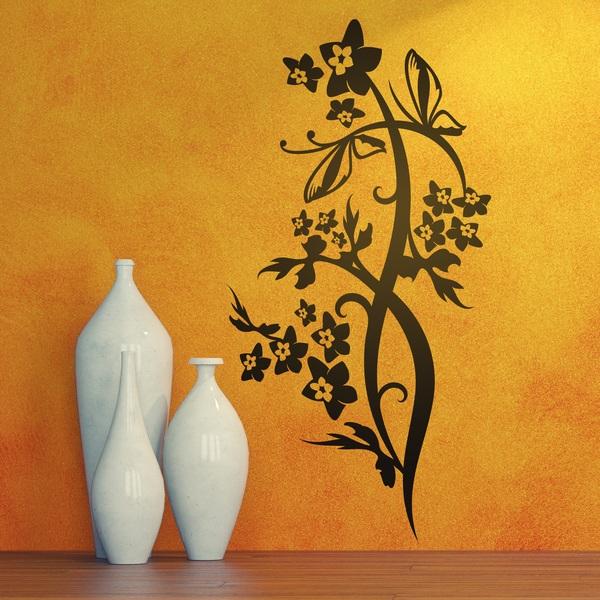Vinilos Decorativos: Floral ramo y mariposas
