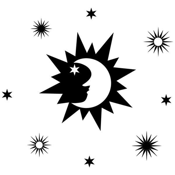 Vinilos Decorativos: Luna y estrellas