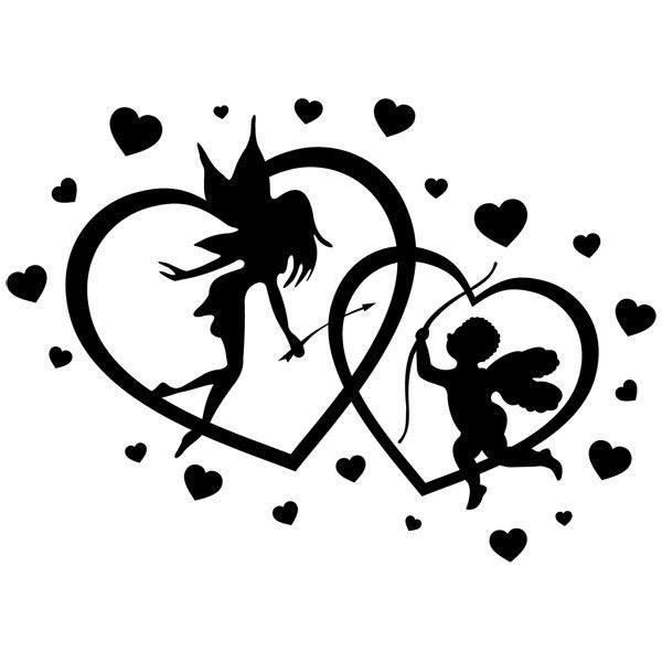 Vinilos Decorativos: Corazones Hada y Cupido
