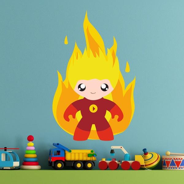 Vinilos Infantiles: Hombre Fuego