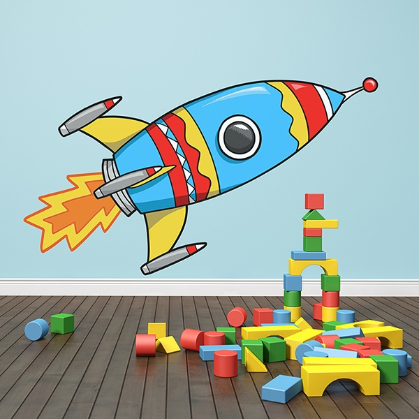 Vinilos Infantiles: Cohete Despegando