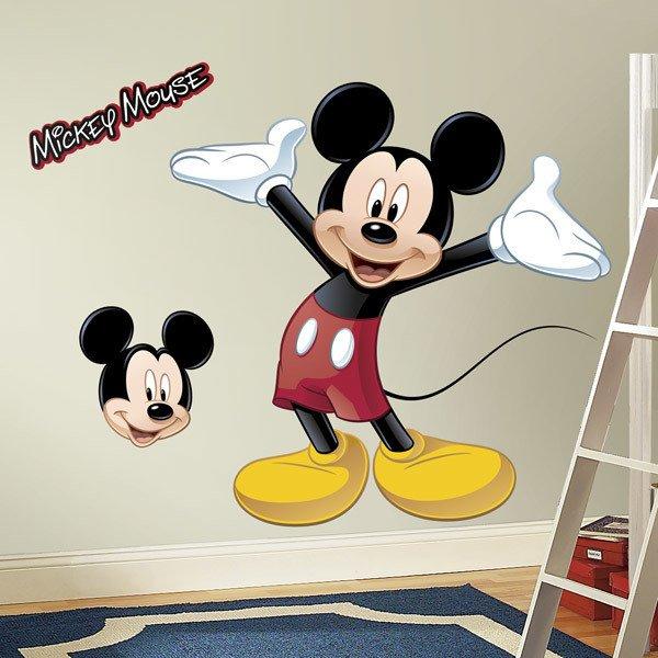Vinilos Infantiles: Gran vinilo de Mickey Mouse