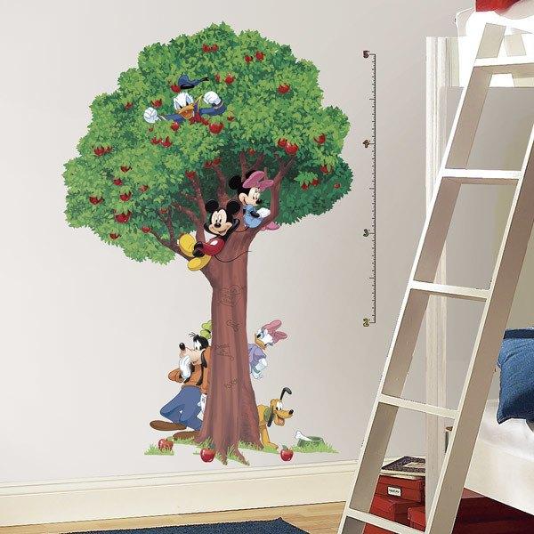 Vinilos Infantiles: Vinilo Medidor Árbol Mickey y Amigos