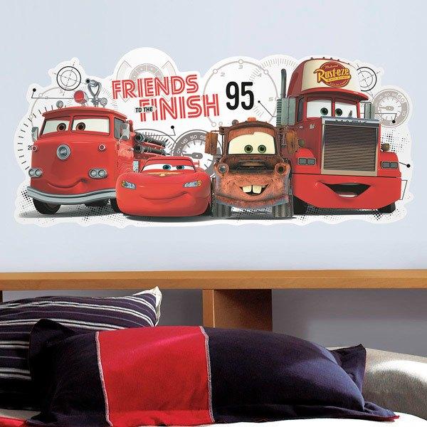 Vinilos Infantiles: Cars 2 Amigos hasta la meta