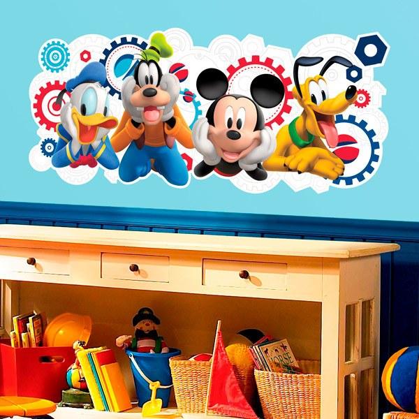 Vinilos decorativos de personajes disney en teleadhesivo for Pegatinas para pared infantiles