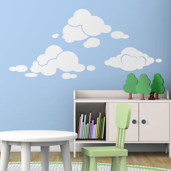 Vinilos Decorativos: Kit de nubes
