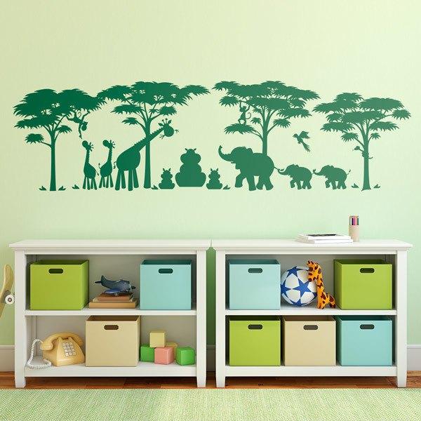 Vinilos Infantiles: Escena Animales de la Selva
