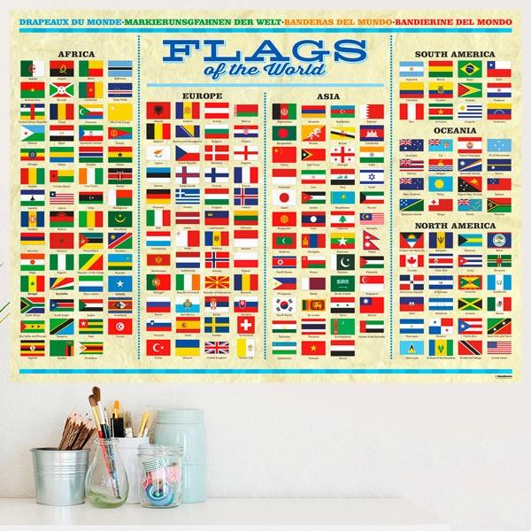 Vinilos Decorativos: Banderas del mundo