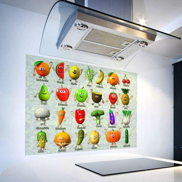 Vinilos Decorativos: Frutas y Verduras