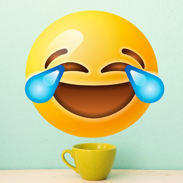 Vinilos Decorativos: Cara llorando de risa emoji