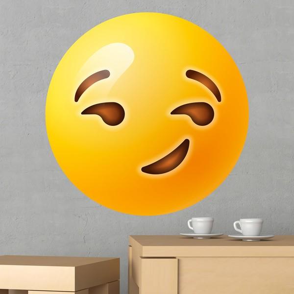 Vinilos Decorativos: Cara con sonrisa maliciosa emoji