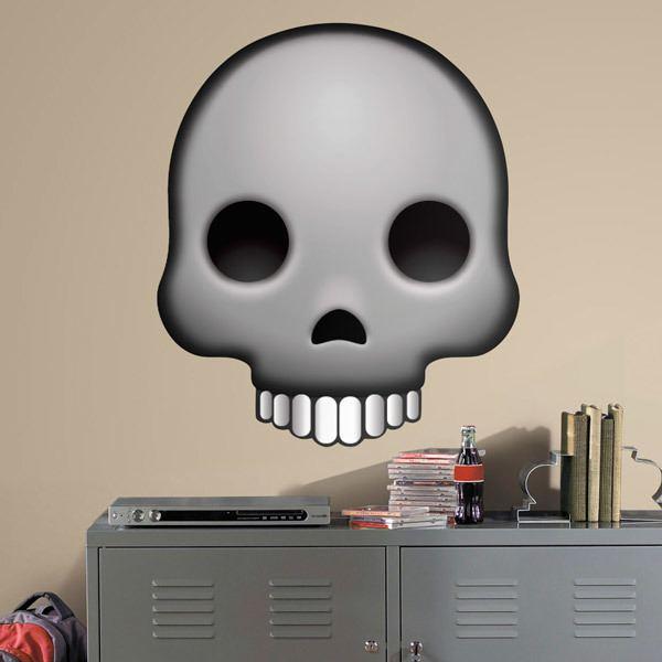 Vinilos Decorativos: Cráneo de calavera humano