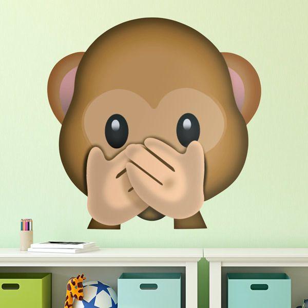 Vinilos Decorativos: Mono que no quiere hablar