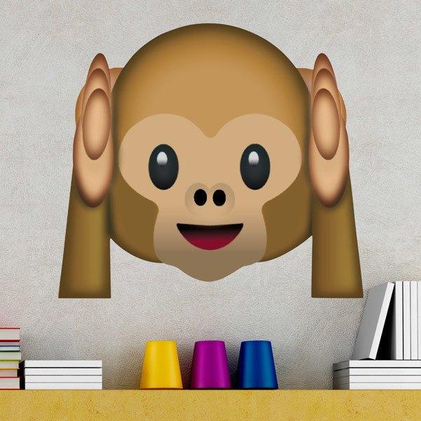 Vinilos Decorativos: Mono que no quiere escuchar