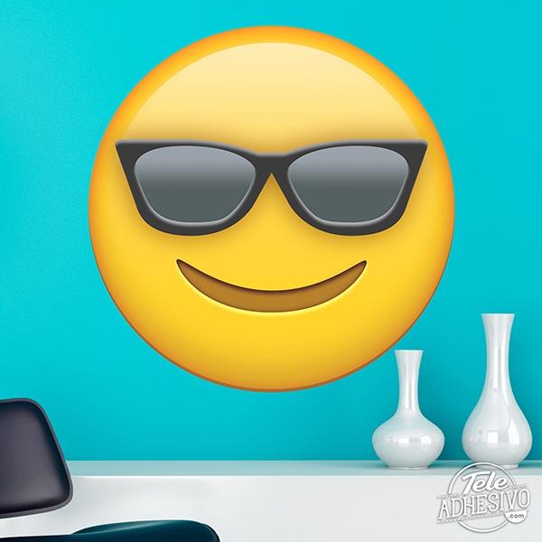 Vinilos Decorativos: Cara sonriente con gafas de sol
