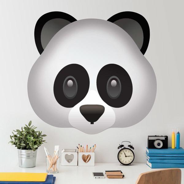 Vinilos Decorativos: Cara de oso panda