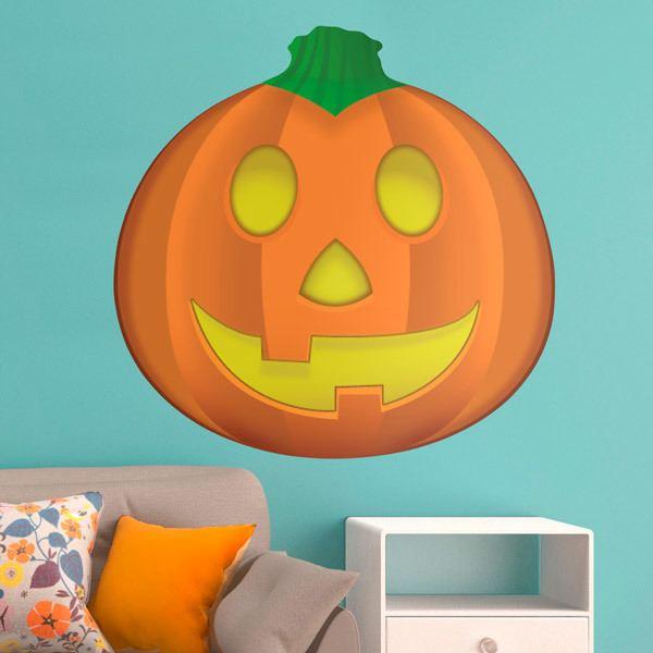 Vinilos Decorativos: Calabaza de Halloween