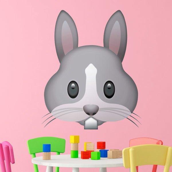 Vinilos Decorativos: Cara de Conejo
