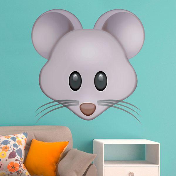Vinilos Decorativos: Cara de ratón