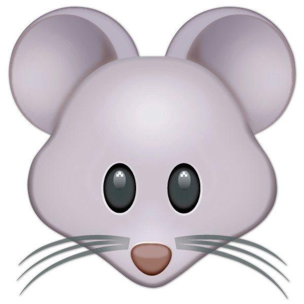 Vinilo Decorativo Emoji Cara De Rat 243 N