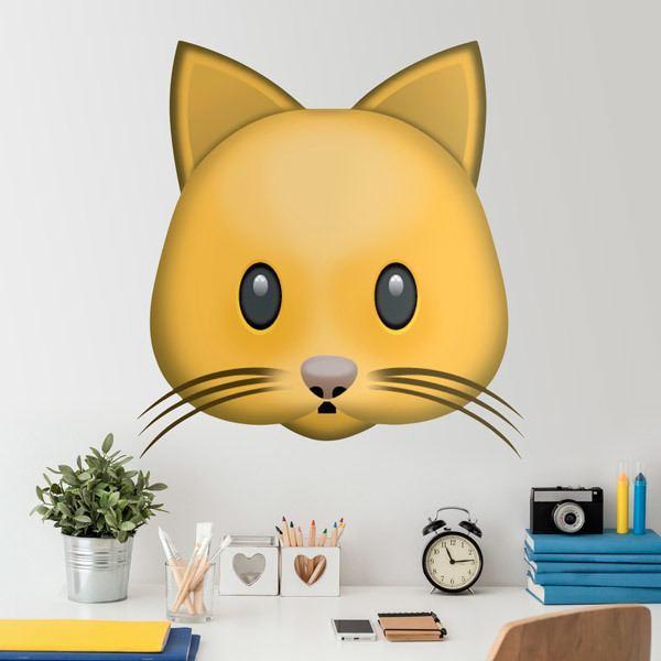 Vinilos Decorativos: Cara de gato