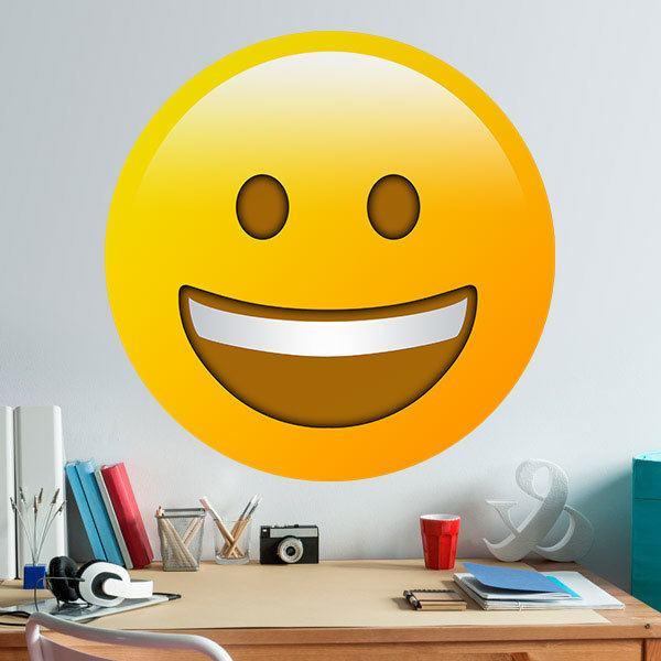 Vinilos Decorativos: Cara con gran boca sonriente