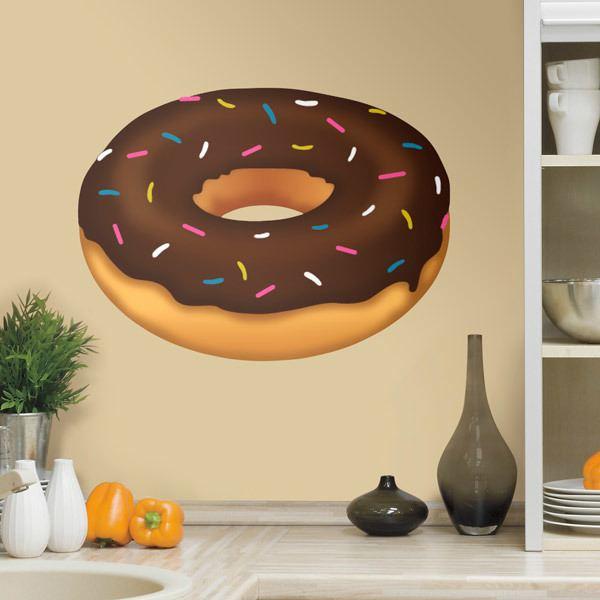 Vinilos Decorativos: Donut de chocolate