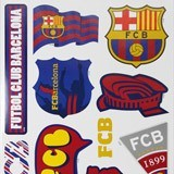 Vinilos Infantiles: Pegatinas FC Barcelona 2 68x48 cm