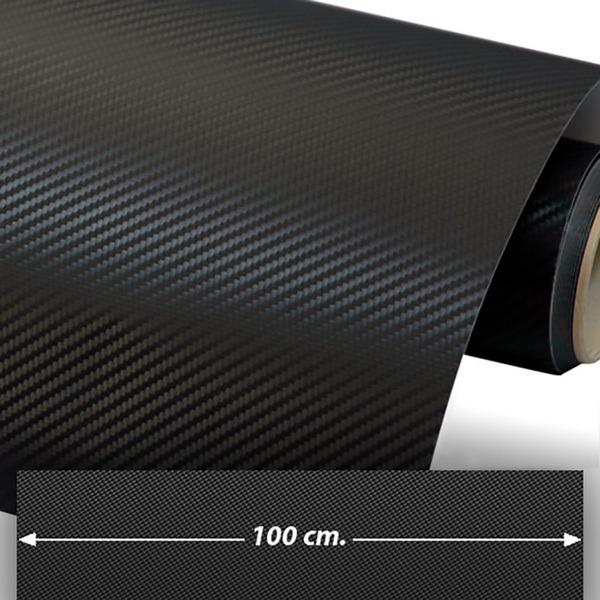Pegatinas: Lámina de vinilo de fibra de carbono 100cm