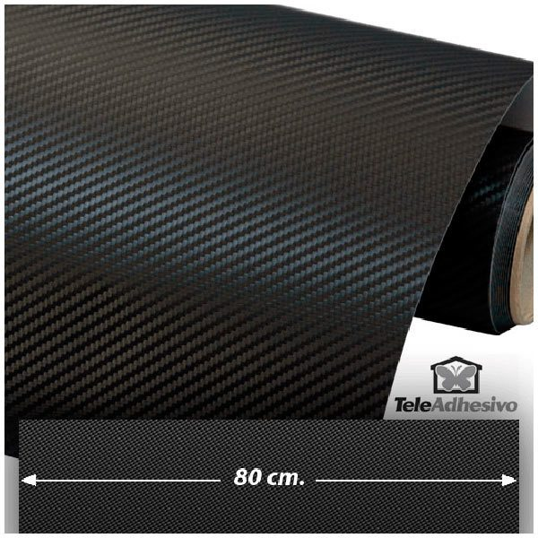 Pegatinas: Lámina de vinilo de fibra de carbono 80cm