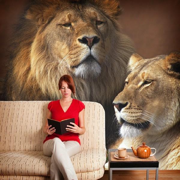Fotomurales: León y leona