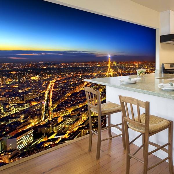 Fotomurales: París iluminando la noche