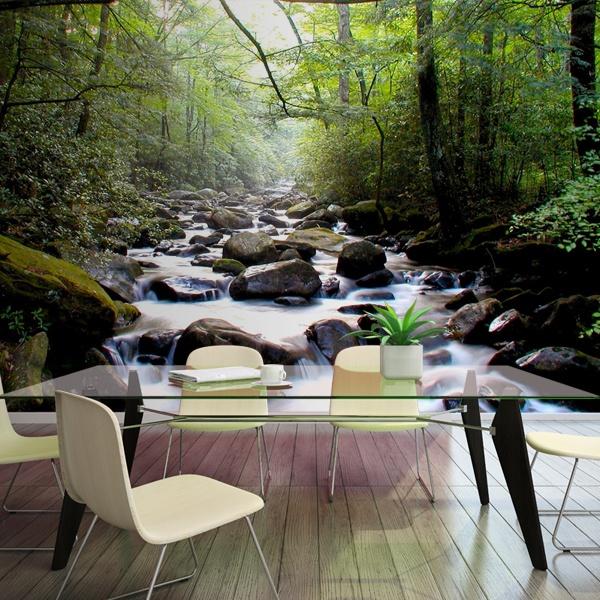 Fotomurales: Río en el bosque