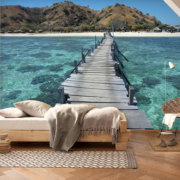 Fotomurales: Puente en el mar