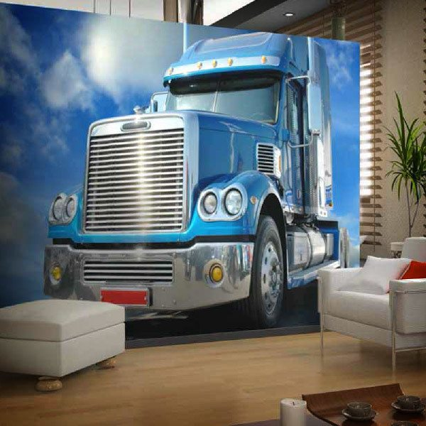 Fotomurales: Camión azul