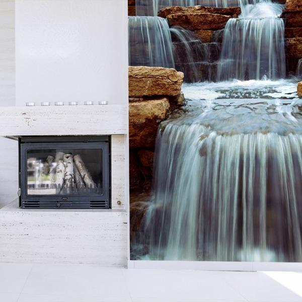 Fotomurales: Cascada y piedras