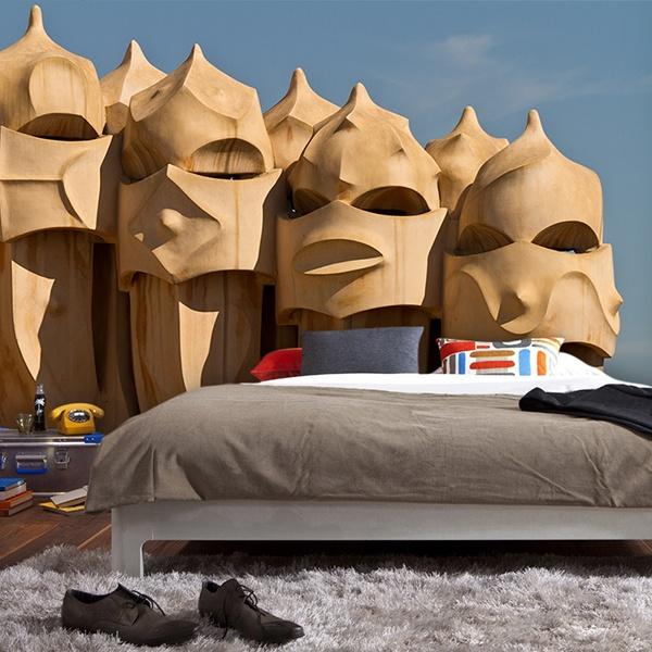 Fotomurales: Chimeneas Gaudi